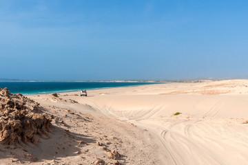 Fahrt durch die Dünen von Morro d'Areia, Boavista, Kapverden mit