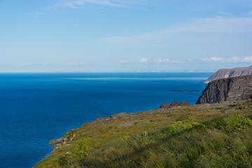Blick vom Nordkap auf Meer