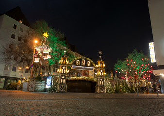 Christmas market on Altermarkt in Cologne, Germany