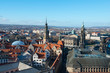 Panoramic view of Dresden from Frauenkirche church