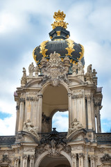 The Zwinger is a palace built in Rococo style in Dresden