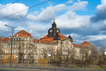 Saxon State Chancellery buildings in Dresden, Germany