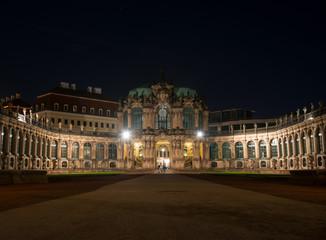 The Zwinger (Der Dresdner Zwinger) at night. Dresden