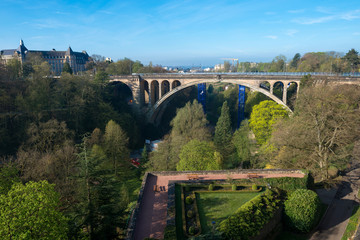 Pont Adolphe Bridge in Luxembourg City
