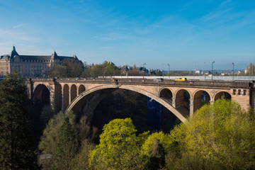 Pont Adolphe Bridge in Luxembourg City