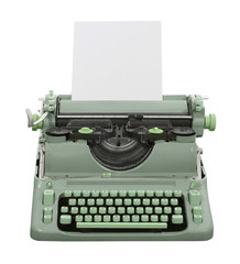 Retro Green Typewriter