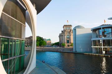 embankment of Spree, cityscape, Berlin, Germany
