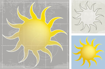 Sun, sketch