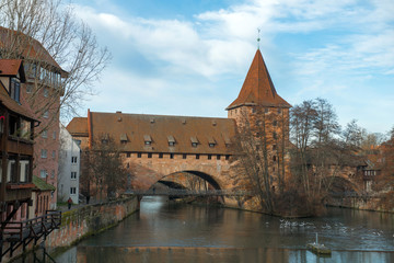 View of the Old Town architecture in Nuremberg, Germany