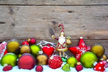 Weihnachtskugeln rot- grün