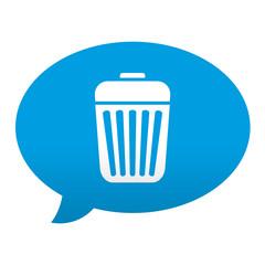 Etiqueta tipo app azul comentario simbolo basura