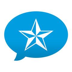 Etiqueta tipo app azul comentario simbolo favorito