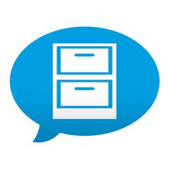 Etiqueta tipo app azul comentario simbolo fichero
