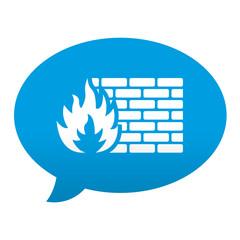 Etiqueta tipo app azul comentario simbolo firewall
