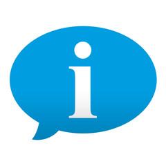 Etiqueta tipo app azul comentario simbolo informacion