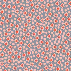 Vector seamless pattern with spring flowers
