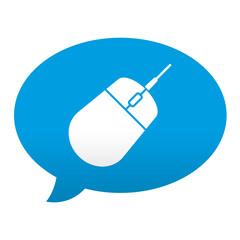 Etiqueta tipo app azul comentario simbolo raton