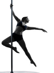 woman pole dancer silhouette