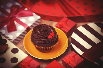Cupcake and gifts