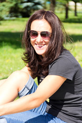 Brunette in sunglasses