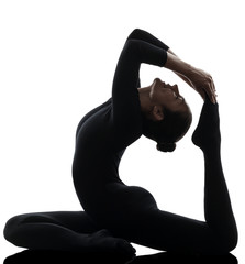 Eka Pada Rajakapotasana One Legged King Pigeon Pose yoga woman