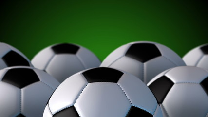 The rolling footballs-Seamless and Loop-able animation