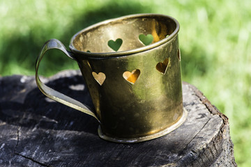 Cups with heart shapes