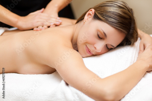canvas print picture Woman having a massage