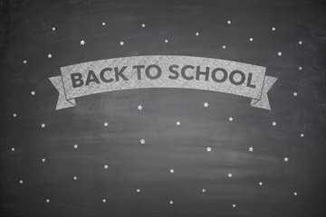 Back to shool on blacboard