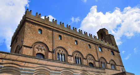 People's palace. Orvieto. Umbria. Italy.