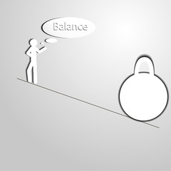 man balance