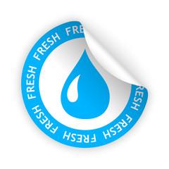 vector fresh product bent sticker