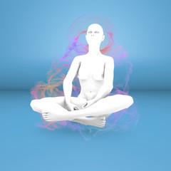 Donna yoga concentrazione meditazione aura