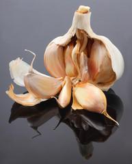 The Garlic (Allium sativum).