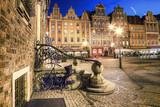Wrocław Stare Miasto wieczorem. - 69280376