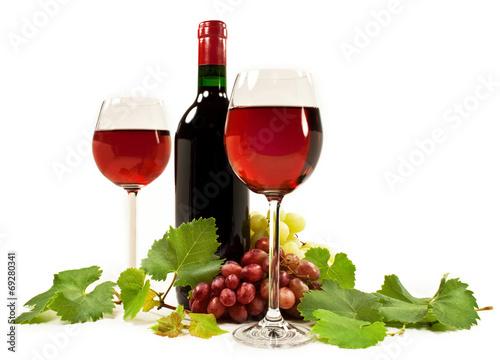 Deurstickers Wijn Rotwein