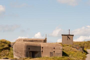 German WWII bunker in the dunes of Ostend Belgium