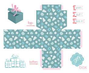 Printable Gift Box Various Shells