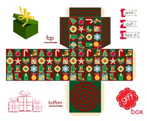 Printable Gift Box Christmas Season