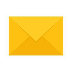 Vector Yellow Envelope Flat Icon