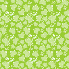 Seamless Pattern With Striped Ivy Leaves