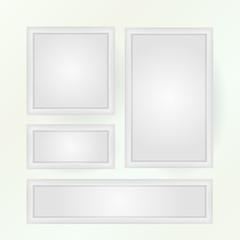 Vector illustration of blank poster mock-ups