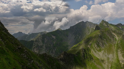 Carpathian mountains Fagaras massif landscape