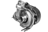 turbocharger from the car on a white background