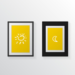 Vector illustration of two poster mock-ups