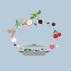 Design concept icon for food