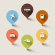 Set of retro round flat transport pointers