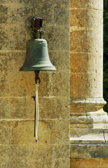 Bell in an Orthodox monastery on the island of Crete .