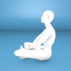 Donna yoga concentrazione meditazione