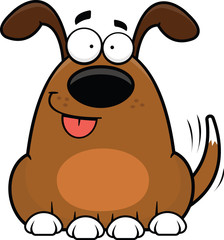 Cartoon Funny Dog Happy